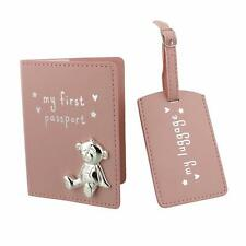 Baby Girl My First Passport and Luggage Tag Set CG988P