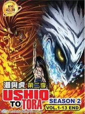 DVD  Ushio To Tora Seson 2 (1-13 End) English Subtitles All Region + free gift