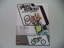 advertising Pubblicità 1974 MOTO GILERA 50 ENDURO