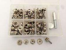Boat Cover/Canopy Fittings-Snap fastener stainless 316 canvas to screw kit&tools
