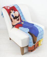 LARGE-Nintendo Super Mario in Pile Coperta Letto Divano Buttare RAGAZZO BAMBINO CAMERA DA LETTO