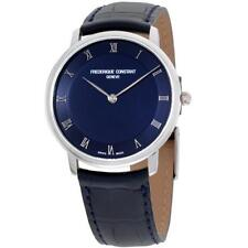 FREDERIQUE CONSTANT MEN'S SLIM LINE 39MM STEEL CASE QUARTZ WATCH FC-200RN5S36