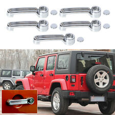 5x 2007-2015 for JEEP Wrangler JK Triple Chrome ABS Handle+Tailgate Handle Cover