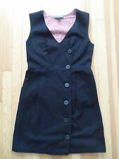 EUC Anthropologie Lil Off The Beat Black Twill Button  Dress SZ.6