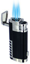 Triple Torch Flame Refillable Butane Cigar Punch Pipe Lighter by Winlite - 9200