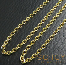 "26"" 2.5mm 10.80 Grams 14k Yellow SOLID real Gold Rolo Cable Box Chain Necklace"