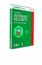 KASPERSKY INTERNET SECURITY 2015 -2016 MULTI-DEVICE 3 PC PC Android Mac DVD