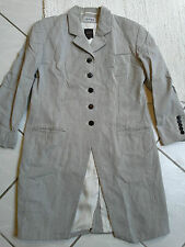 PAUW womens grey striped creased stylish trench coat jacket gothic vampire 4 M