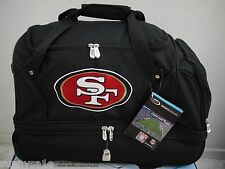 San Francisco 49ers Duffle Bag Gym Swimming Carry On Travel Luggage Tote NEW NFL