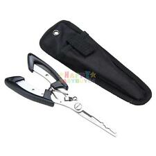 Fishing Pliers Scissors Line Cutter Remove Hook Tackle Stainless Steel Tool NEW