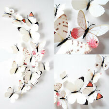 12x 3D Butterfly Sticker Art Design Decal Wall Stickers Home Decor Ornament
