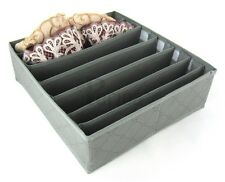 7 slots Storage LARGE box wardrobe drawer organiser socks ties soloution 14G