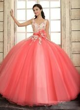 New Quinceanera Formal Prom Party Ball Gown Wedding Dress Custom size