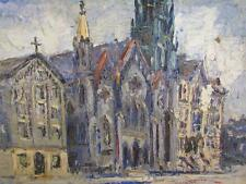 ANTIQUE 1930s JOHN STEPHAN IMPRESSIONIST PAINTING, NEW YORK ABSTRACT ARTIST #2