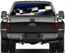 Racing Checkered Flag Adrenaline Rear Window Graphic Decal for Truck SUV Vans