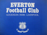Everton Home Programmes *Select from list*