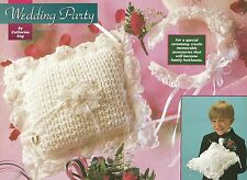 Ring Bearer's Pillow & Brides Headband crochet PATTERN INSTRUCTIONS