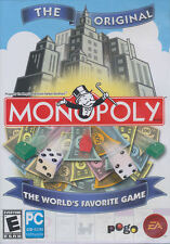 MONOPOLY 08 - Parker Brothers hasbro PC Game for Windows XP Vista & 7 - NEW DVD