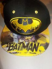 DC COMICS BATMAN SUBLIMATED PRINT ON TOP AND BACK FLAT BILL SNAPBACK HAT CAP