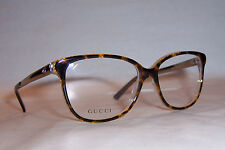 NEW GUCCI EYEGLASSES GG 3701 4WJ HAVANA GOLD 54mm RX AUTHENTIC