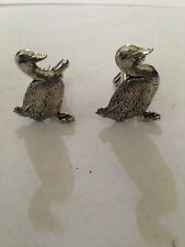 Duck Bird PP-B03 Fine English Pewter Cufflinks