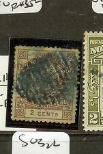NORTH BORNEO (P2312B) 2C ARMS LION SG35 14 BAR BLUE BLACK GRID VFU