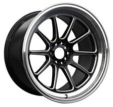 XXR 557 17x8 5x100/114.3 +15 Black/Machine Lip Wheel Fits Accord Rsx Tsx Tiburon