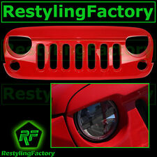 07-16 Jeep JK Wrangler Front Hood Flame Red Replacement Grille Shell Rubicon