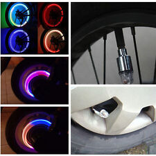 Hot NeonLED Flash Light Lamp Bike Car Motorcycle Wheel Tire Tyre Valve Cap Spoke