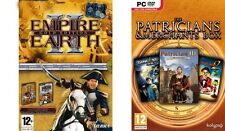 empire earth  2 gold & Patrician III & Great Art Race & dark star 1   new&sealed