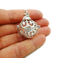 Llamada ángel Colgante de Cuentas de bola de plata esterlina 925
