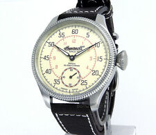INGERSOLL GERMAN DESIGN AUTOMATIC ALAN COBHAM 316 STEEL 47mm LEATHER IN1001CR