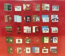 30 Assorted Hand Crafted Christmas Cards Matching Self-Seal Envelopes - BURGOYNE
