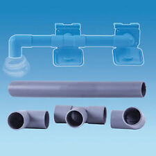 28mm WASTE WATER OUTLET PIPE CONNECTION KIT FOR TWO OUTLETS. 4 PIECES CARAVAN