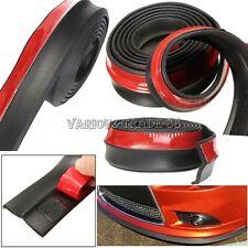 """100"""" Car Front Bumper Lip Splitter Spoiler Valance Chin Skirt Body Protector Kit"""