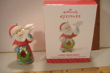 ~A VISIT FROM SANTA~6TH AND FINAL IN THE SERIES~2014 HALLMARK ORNAMENT~