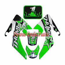 GREEN DECALS STICKER ROKETA SSR COOLSTER RICARDO HONDA XR50 CRF50 DIRT PIT BIKE