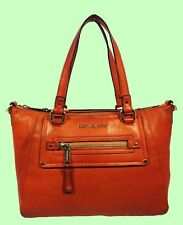 MICHAEL KORS GILMORE Tangerine Leather Tote Shoulder Bag Msrp $398 *FREE S/H*