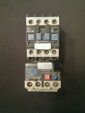 TELEMECANIQUE LC1 D1210 M7 CONTACTOR 25AMP + LR2 D13 4-6A Overload Relay *USED*