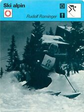 FICHE CARD : Rudolf Rominger  SWITZERLAND SUISSE  Alpine skiing SKI ALPIN 70s