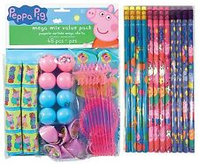 60Pc PEPPA PIG Birthday Mega Mix Value Favors Pack Party Decorations Supplies