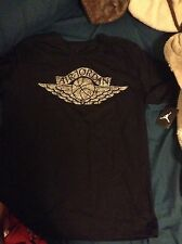 Air Jordan Jumpman Laser Wings 12 Black Sliver T-shirt Mens Size 2XL XXL