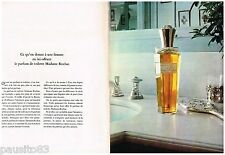 PUBLICITE ADVERTISING 105  1970  MADAME ROCHAS  ( 2p) eau de toilette
