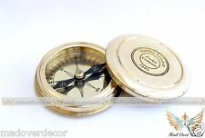 NAUTICAL ANTIQUE STYLE BRASS STANLEY LONDON 1885 POEM COMPASS COLLECTIBLE GIFT