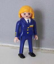 PLAYMOBIL (C221) AEROPORT - Femme Copilote Jet Aéroline 3185