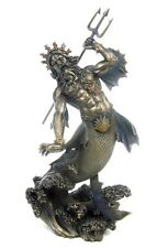 Poseidon Greek Mythology Roman Neptune Sea God Merman Deity Statue #WU70787A4