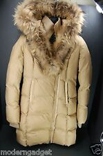 SUPER CHIC & WARM !!! MACKAGE HOODED DOWN COAT WITH FUR WOMEN JACKET XS/TP