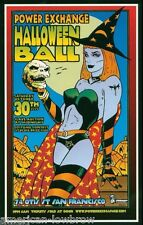 Kozik Art mini Poster Print Power Exchange Halloween Ball Witch Pentagram