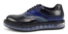 Prada New Mens Shoes 5, 6 US Levitate Leather Lace Up Oxfords Black / Blue