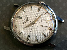 Vintage Longines Wristwatch Rare Textured Dial Solid Stainless Steel